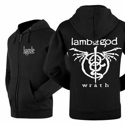 lamb of god band Zip Up Hoodie Classic Zipper Hood coat Sweatshirts COS