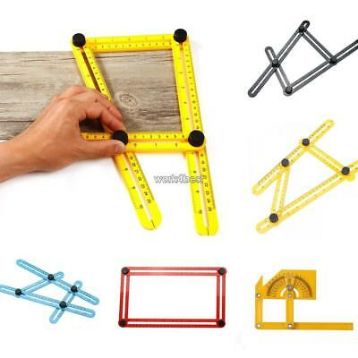 Multifunctional Foldable Angle Ruler Four-Sided Ruler Measuring Tool WST