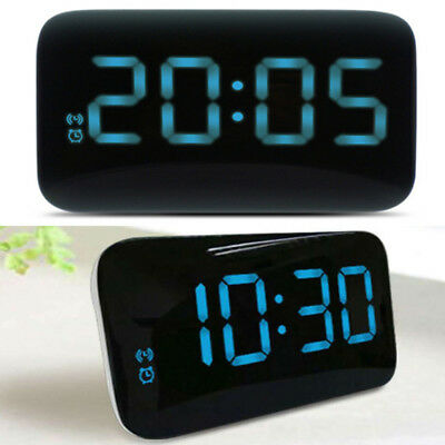 Digital LED Alarm Clock Large Screen Snooze USB/Battery Powered Voice Control