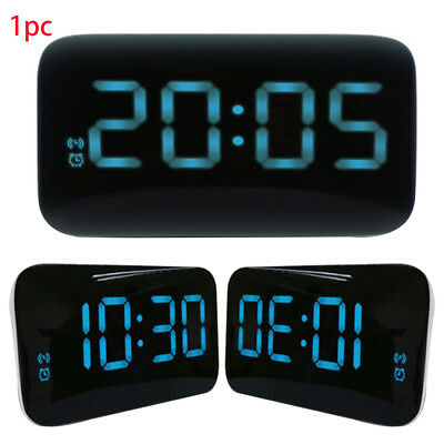 Large LED Digital Alarm Snooze Clock Voice Control Time Display USB Rechargeable