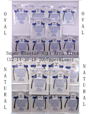 50-pack Dental Oval/Natural Niti Super Elastic Arch Wire Round Orthodontic 12-20