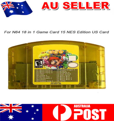 N64 18 in 1 Card Aggregation +15 NES Edition US For Nintendo Mario Party 1 2 3