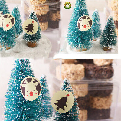 120x Merry Christmas Round Sealing Sticker DIY Posted Baking Decor Gift Label Z