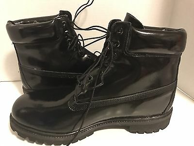 4f5f262aaf0 TIMBERLAND BOOTS BLACK Patent Leather Suede Top/Wedge Heels 8.5 ...
