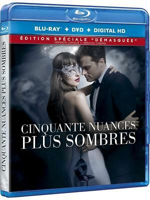 """Blu-ray """"Cinquante Nuances Plus Sombres"""" Blu-ray + DVD    NEUF SOUS BLISTER"""