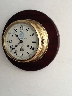 Brass Ship's Clock by Sewills Liverpool Battle of The Atlantic Anniversary