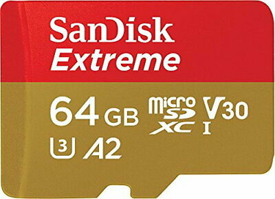 SanDisk Extreme 64 GB microSDXC Memory Card + SD Adapter with A2 App Performance