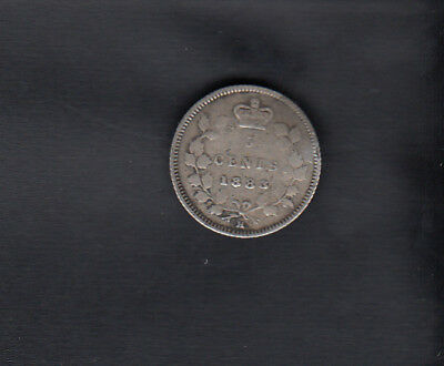 1883H Canada Silver 5 Cents
