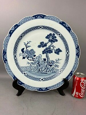 18th C. QianLong Chinese Blue and White Porcelain Big Plate