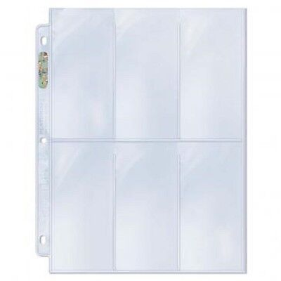 10 loose Ultra Pro 6 Pocket Pages Coupon Tall Card Storage Sheets Holder