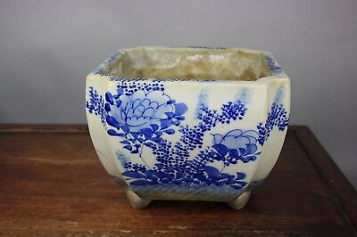 19th/20th C. Japanese Blue and White Flower Pot