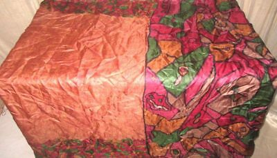 Multi-color Pure Silk 4 yard Vintage Sari Saree Apparel fast handling Hot #9BTPU