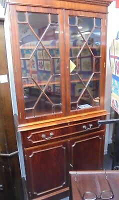Traditional Regency Style Flame Cherry Effect Display Cabinet - M32