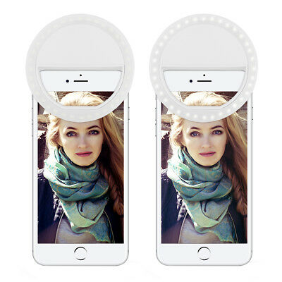 LED Selfie Light Fill Clip Portable Ring Flash Camera Bright For iPhone Samsung