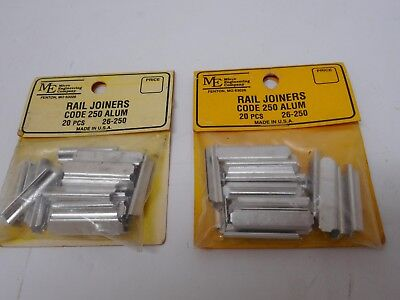 Micro Engineering, Inc. 26-250 Code 250 Rail Joiners Aluminium 40 pieces G Scale