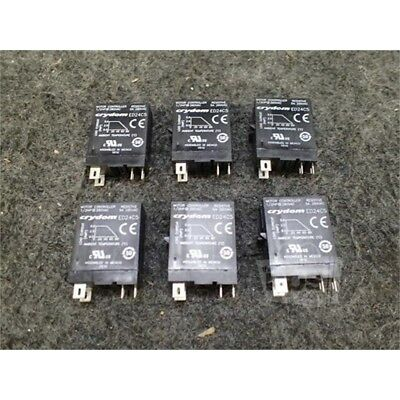 Lot of 6 Crydom ED24C5 Solid State Relay, 5A, 280VAC, 18-32VDC, Socket
