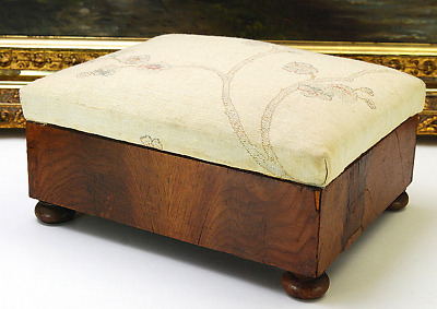 Antique Small  Cabinet Style Foot Stool
