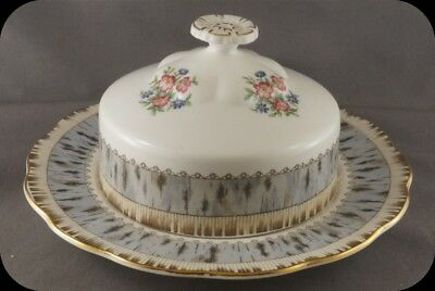 Royal Albert Silver Birch Covered Butter Dish England