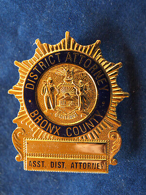 BADGE POLICE Assistant District Attorney Bronx County New York City