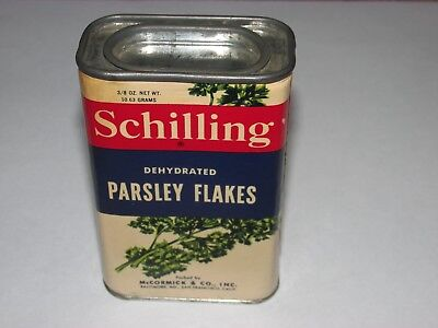 Vintage Schilling Dehydrated Parsley Flakes Tin, Neat!