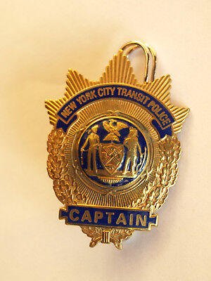 """BADGE NEW YORK CITY TRANSIT POLICE """" CAPTAIN """" kein NYPD"""
