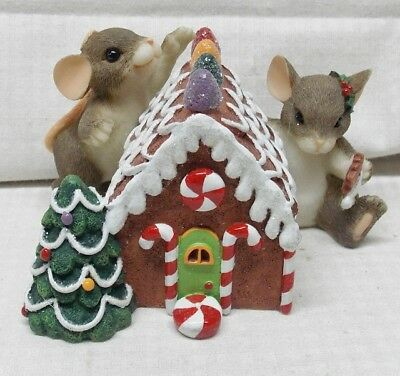 Home Sweet Home Charming Tails Mice Making Gingerbread House