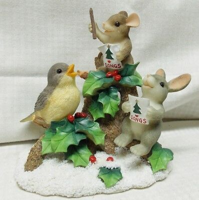 Everybody Sing Charming Tails Mouse conducting bird and bunny to sing