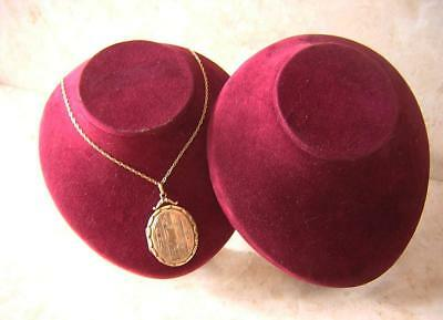 2 VINTAGE SHOP DISPLAY NECKS NECKLACE STANDS for NECKLACES LOCKETS CHAINS NR
