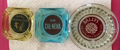 3 Vintage Casino Ashtrays, Las Vegas , Reno , Collectible Gambling