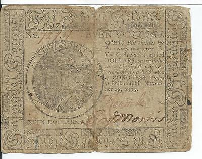 $7 Continental Currency Philadelphia Pennsylvania Nov 29 1775 Seven Dollars Rare