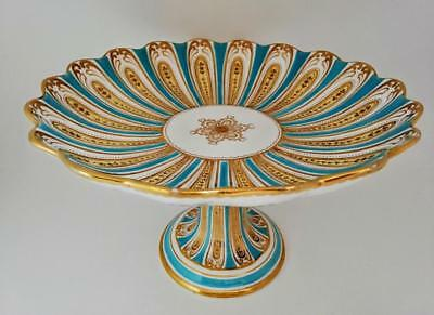 Stunning Large Antique Davenport Rococo Compote  /  Footed Cake Plate c1840