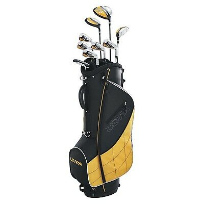 Wilson Ultra Men's Complete 13 Piece Right Handed Golf Club Set & Stand, Yellow