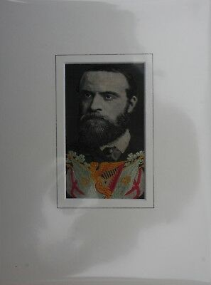 WH Grant Silk Woven (stevengraph) Picture Charles Parnell 1890s  Version 2