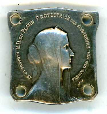 """FRENCH SILVER MEDAL READ """"N.D. du PLATAIN PROTECTRICE des AVIATEURS"""", WW1 PERIOD"""