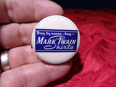Vintage Celluloid Advertising Tape Measure Sewing Clothing *mark Twain Shirts*