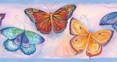 Wallpaper Border Blue Watercolor Butterfly Butterflies