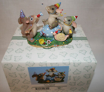 Charming Tails PARTY ANIMALS 89101 Fitz and Floyd New in Box