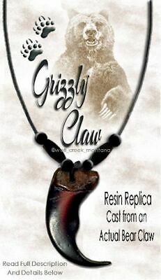 BEAR CLAW NECKLACE B or C GRIZZLY 1 CLAW Replicas //  A