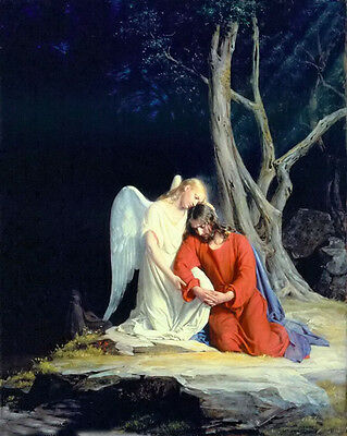 Portrait Oil painting carl heinrich bloch - 基督在客西马尼园 - christ at gethsemane art