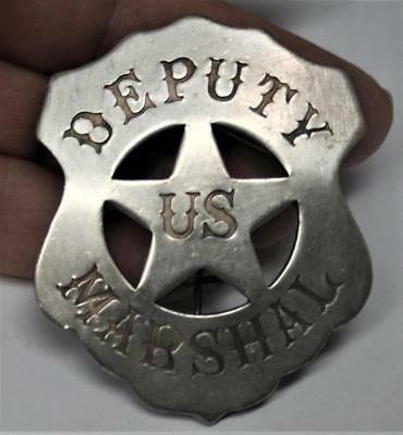 Reproduced Solid Deputy US Marshal Badge - Shield Shape with Star Center