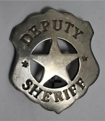 Old West Style Deputy Sheriff Badge, Shield with center Star
