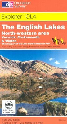 The English Lakes - North Western Area (... by Ordnance Survey Sheet map, folded