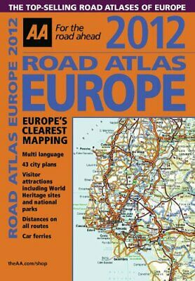 Road Atlas Europe 2012 by AA Publishing Book The Cheap Fast Free Post