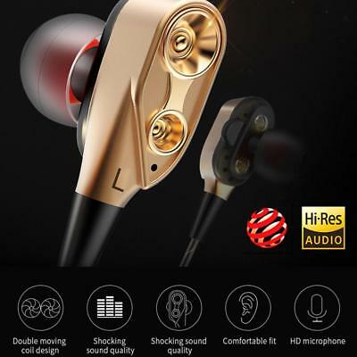 3.5mm Super Bass Music In ear Stereo Headphone Headset Earbuds With Mic HF #