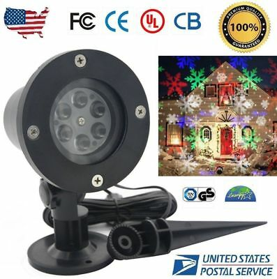 Outdoor Christmas Snowflake Stage Spotlight LED Landscape Projector Lamp Light