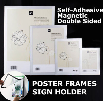A2 A3 A4 Sign holder Windows Display Poster Door Double Sided Adhesive Magnetic