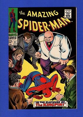 Amazing Spider-Man #51 Nm 9.4 High Grade Silver Age Marvel Key 2Nd Kingpin