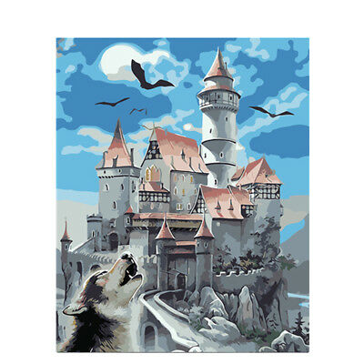 Wolf Dreamcatcher DIY Paint By Number Kit Acrylic Oil Painting Canvas Art Wall