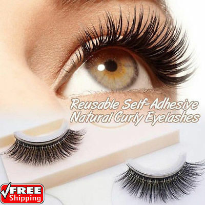 Reusable Self-Adhesive Natural Curly Eyelashes Extension