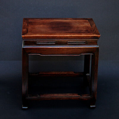 Antique Chinese Hardwood Side Vase Small Table